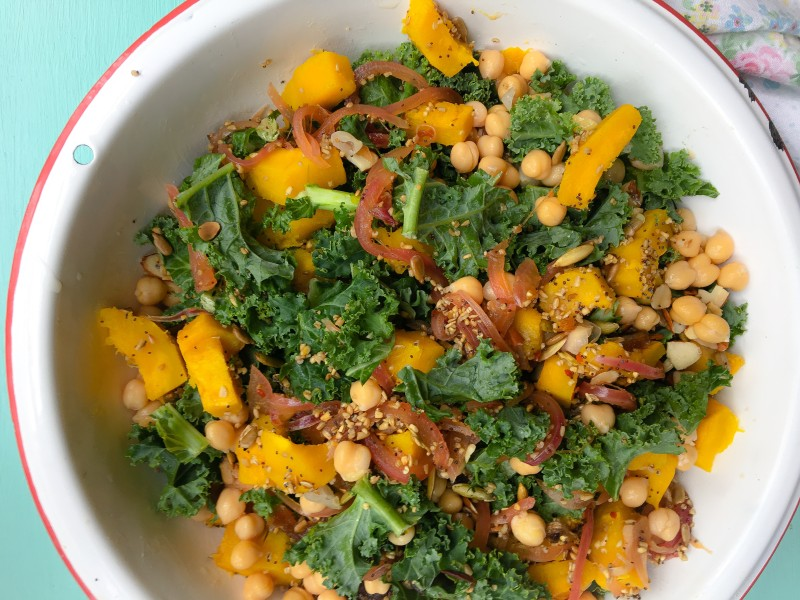 Kale Salad with Squash