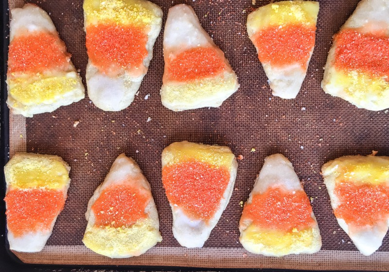 Candy Corn Butter Sugar Cookies