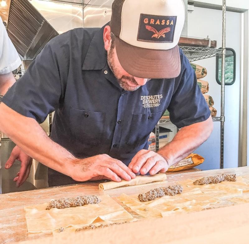 Rick Gencarelli making pasta