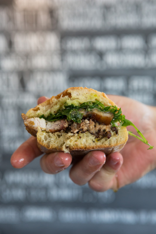 Lardo Porchetta Sandwich, Portland