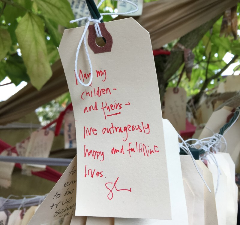 Wishing Tree Wishes, Williams Street, Portland