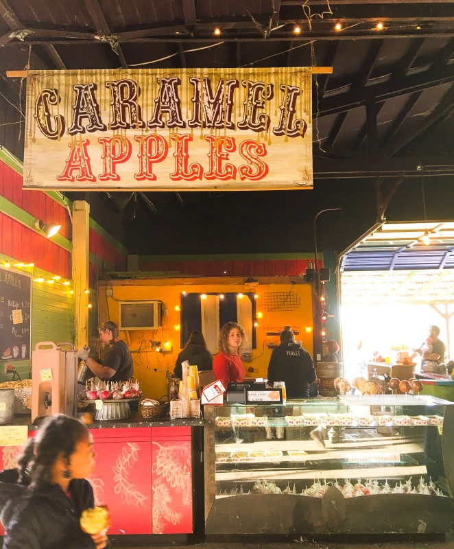 Caramel Apples at Krugers Farm, Sauvie Island