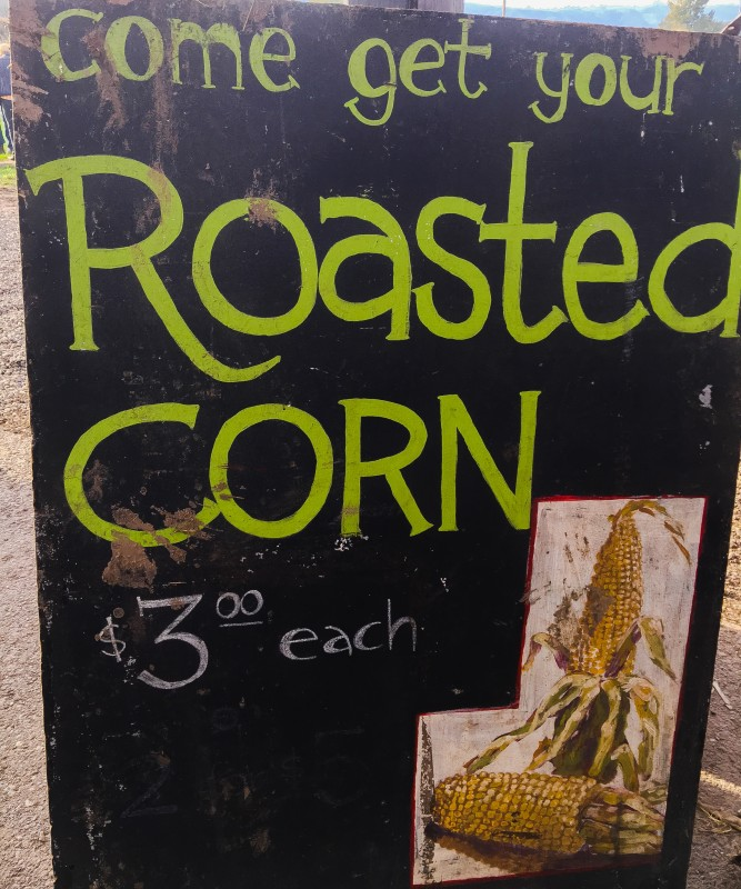 Roasted Corn at Krugers Farm, Sauvie