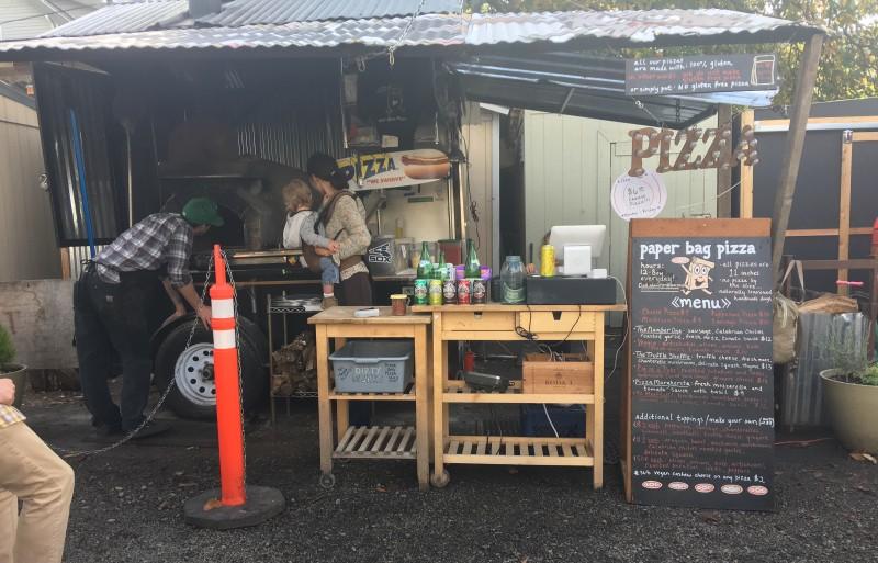 Tidbit Food Farm and Garden -- outside Paper Bag Pizza