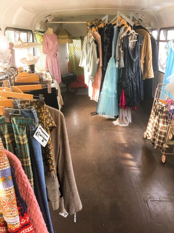 LodTidbit Food Farm and Garden -- outside ekka Vintage Cart at