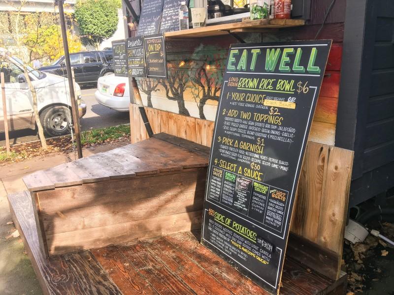 Eat Well Food Cart - Tidbit Food Farm and Garden -- outside