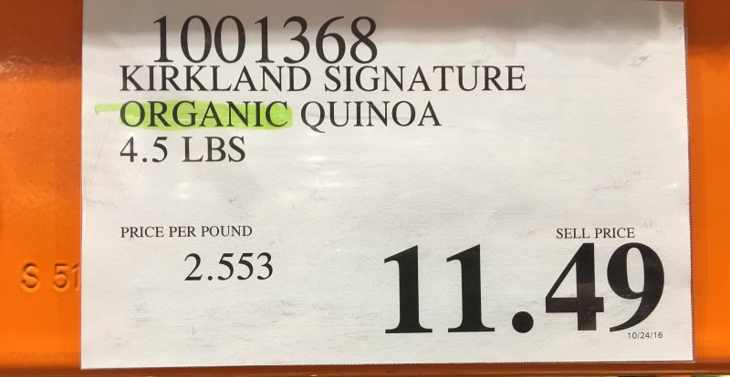 Organic Quinoa at Costco