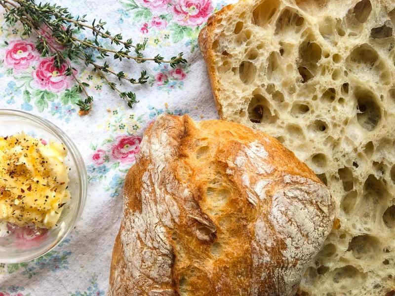 garlic bread makings