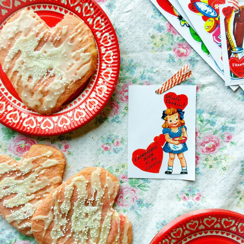 Valentines Vintage and Almond Butter Cookies
