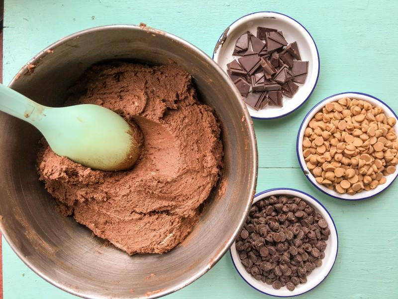 Dark Chocolate Peanut Butter Chip Cookies