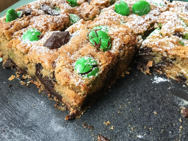 Butterscotch Blondie with Chocolate