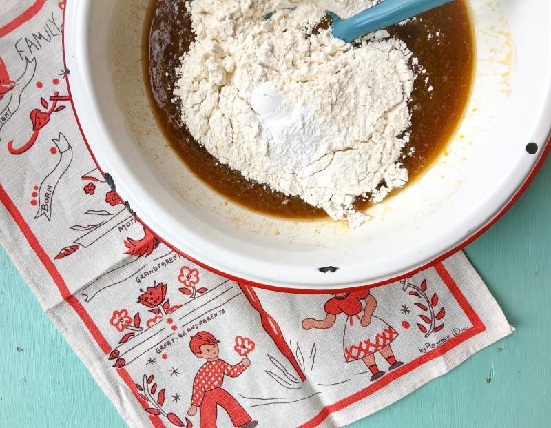 Butterscotch Blondies Making