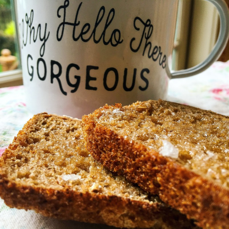 Latte and Tabor Bread Toast