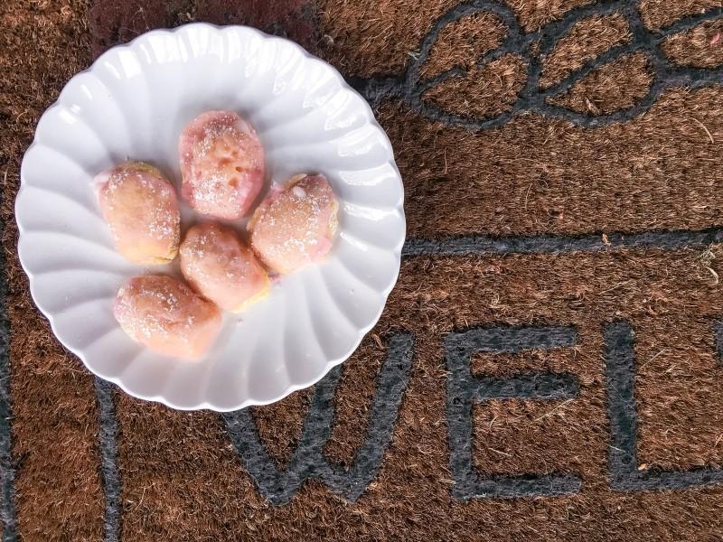 Best Lemon French Madeleines with Pomegranate Glaze