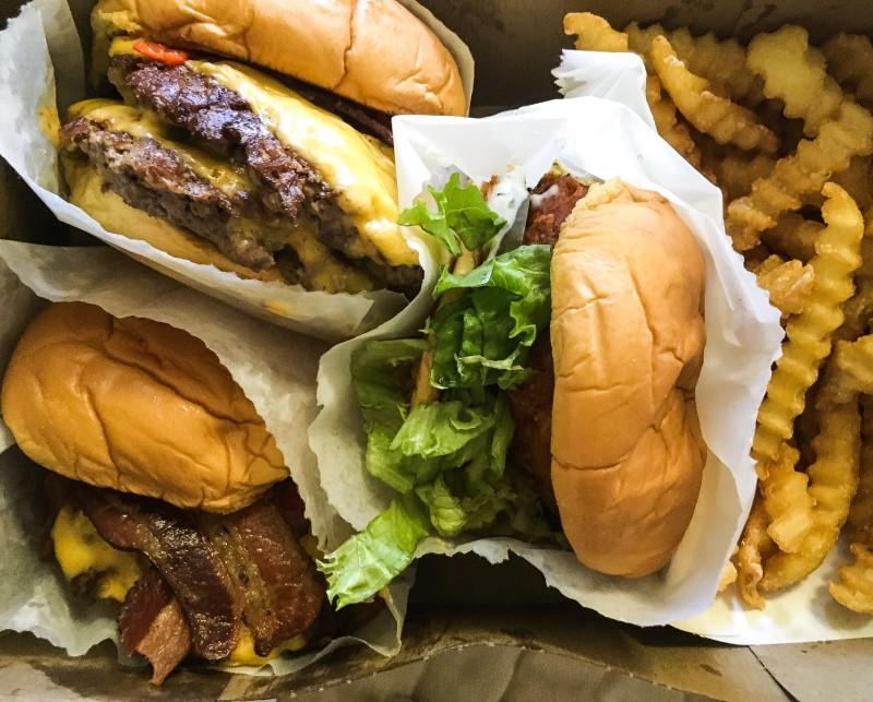 burgers from shake shacks
