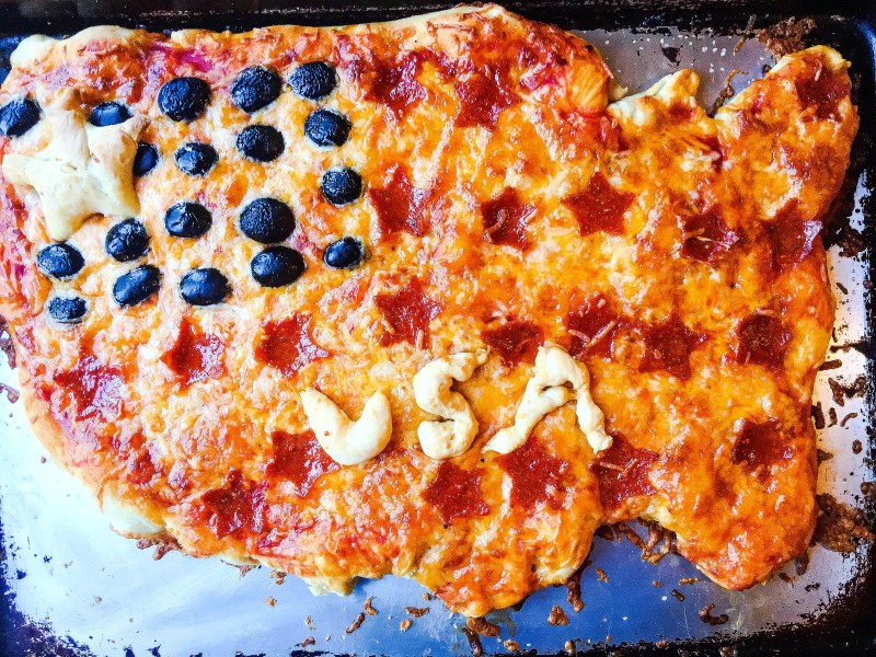 Homemade USA Pepperoni Pizza