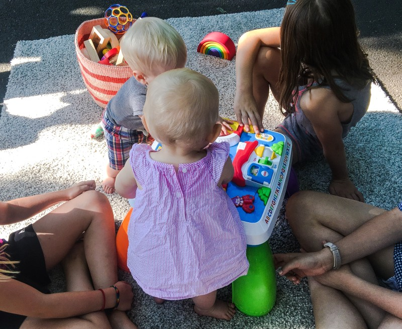 block party offerings with babies