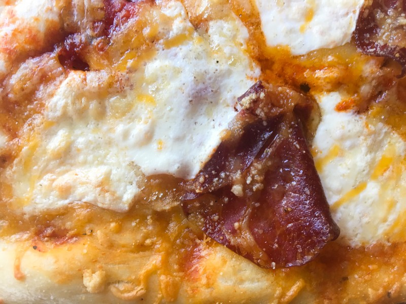 Homemade Pizza with Fresh Mozzarella