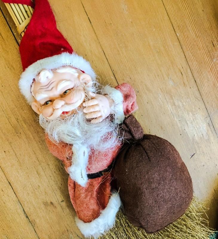 Vintage Santa Broom