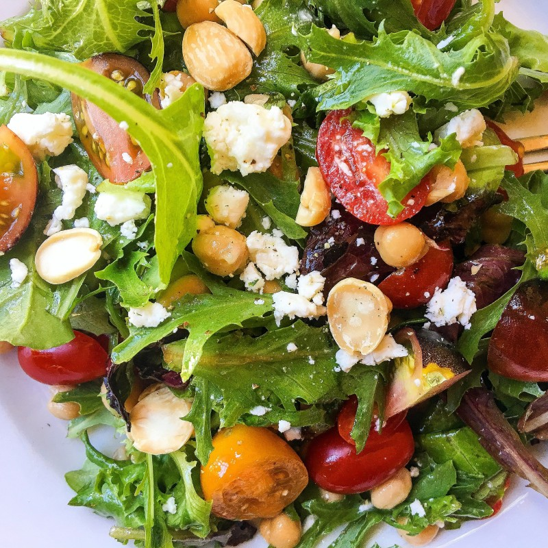 Tomato Salad with Plums and Marcona Almonds