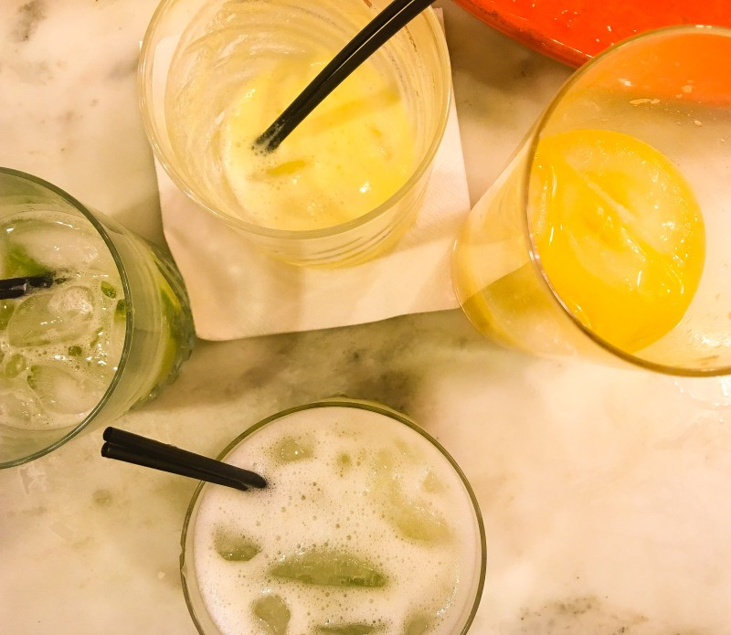 cocktails from Brazilian feast