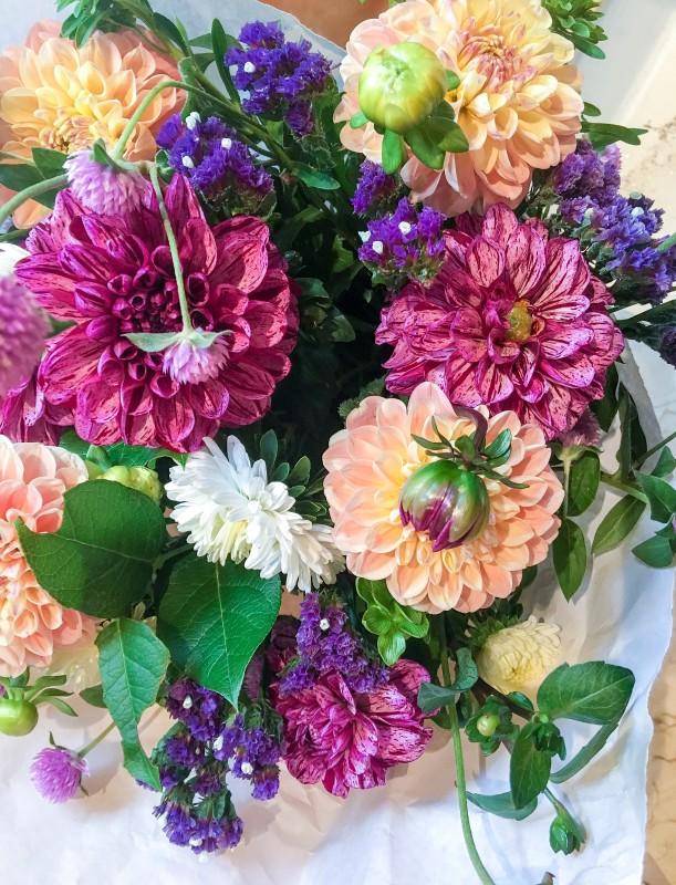 flower bouquet from farmers market