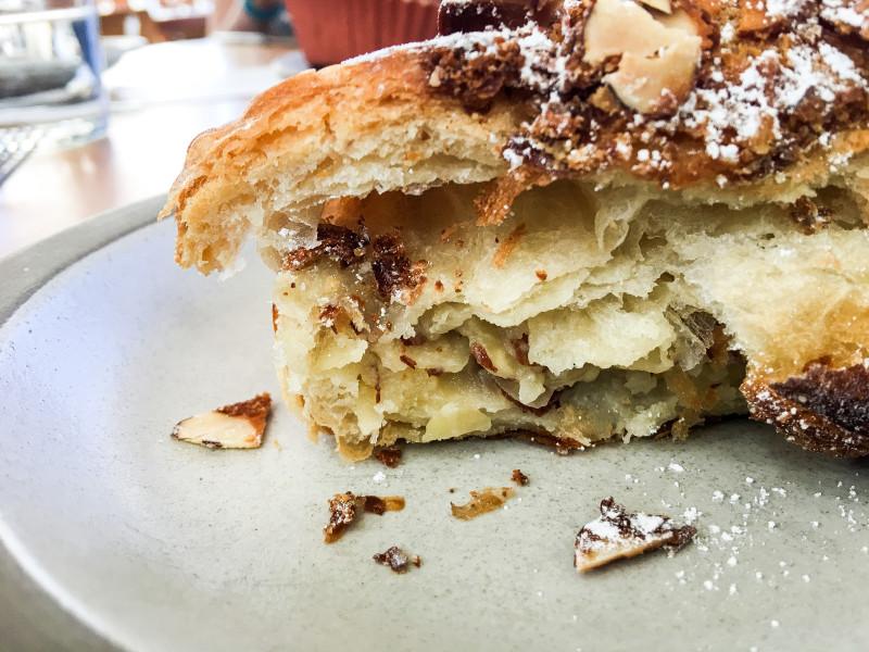 Almond Croissant Tartine