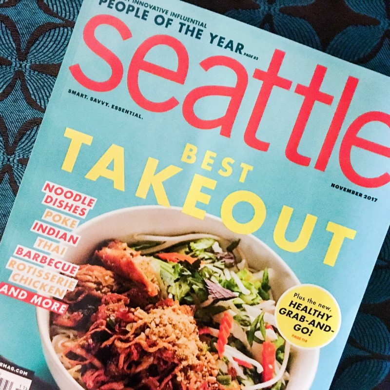 Seattle magazine takeout