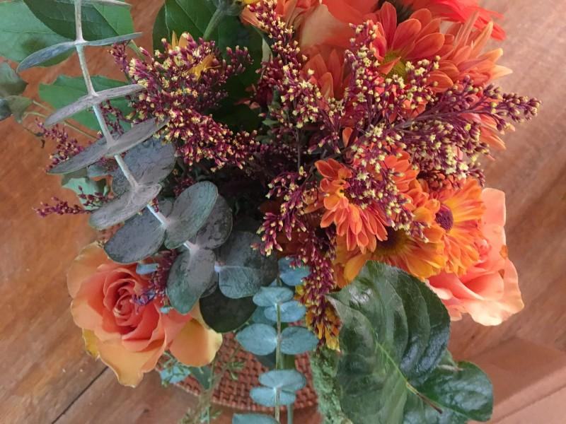 Halloween Decorating Portland Vintage Fall flowers
