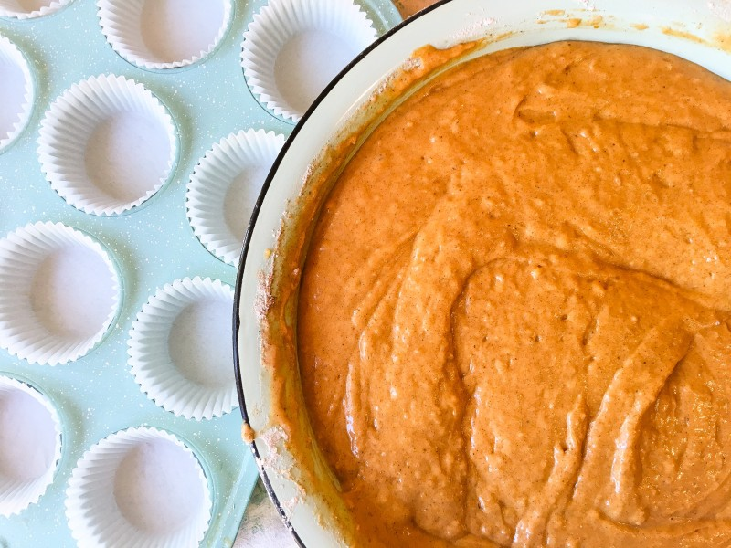 Pumpkin Cupcakes with Tangerine Cream Cheese Frosting