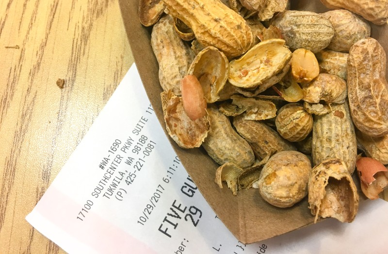 Peanuts from Five Guys
