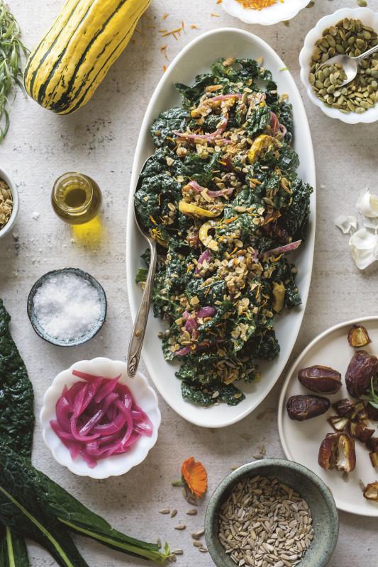 Kale Salad from Milk Glass Mrkt, Portland Cooks