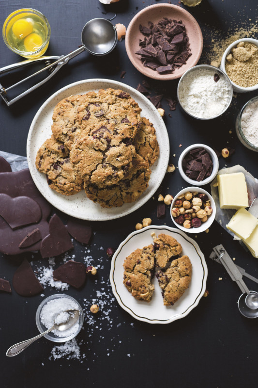 Chocolate Chunk Cookie with Hazelnuts from LIttle T American Bakery, Portland Cooks