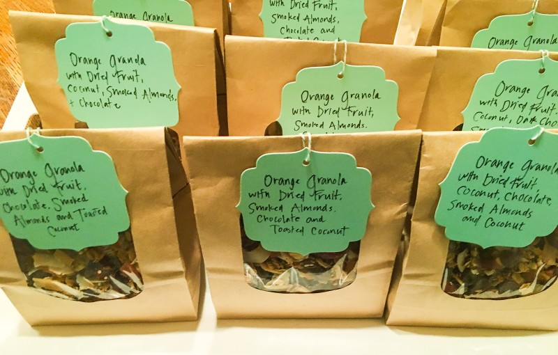 Homemade granola teachers gifts