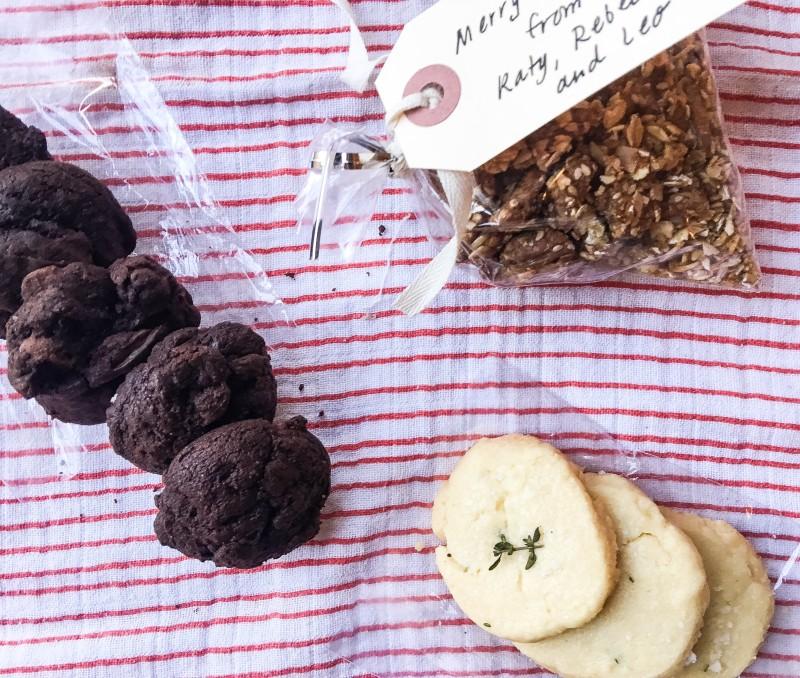 drop cloth sampler holiday food gifts