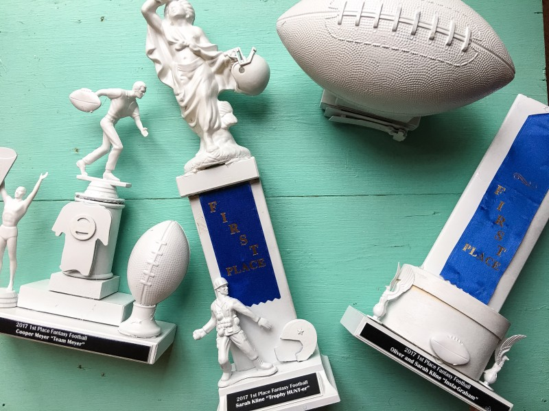 fantasy footbal trophies diy