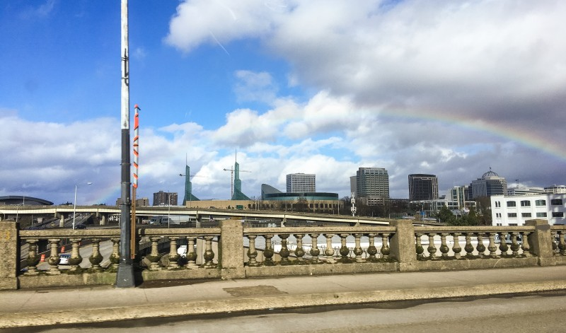 Rainbow over Bridge Portland