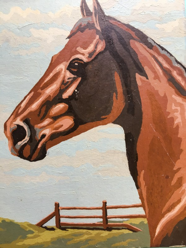 Horse Painting Goodwill Bins