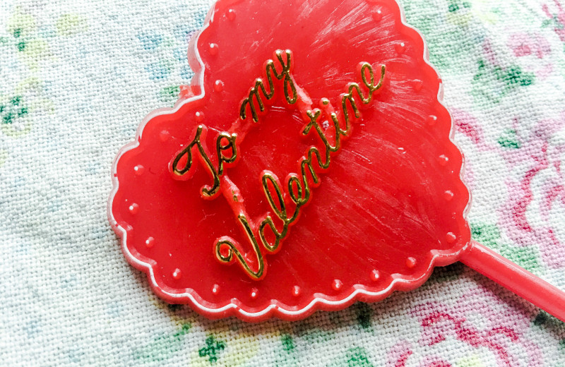 Valentines Day vintage cake topper