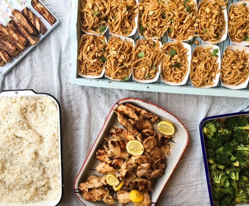 Chicken and Noodles Feast, Cooking for a crowd