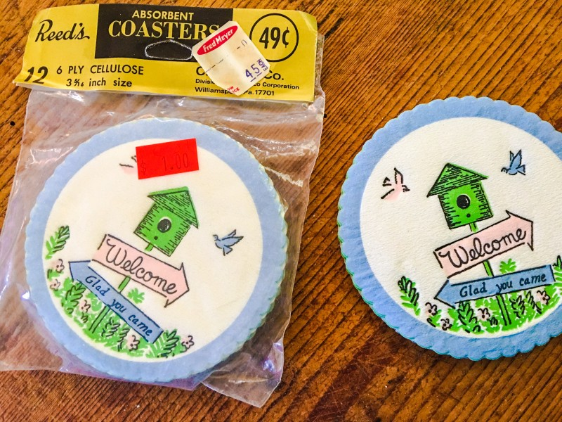 Goodwill Bins Vintage Coasters