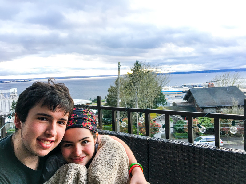 Charlotte and Oliver at Airbnb Seattle