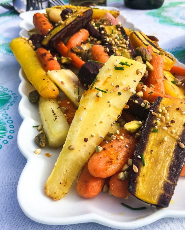Carrots with Tangerine and Pistachio