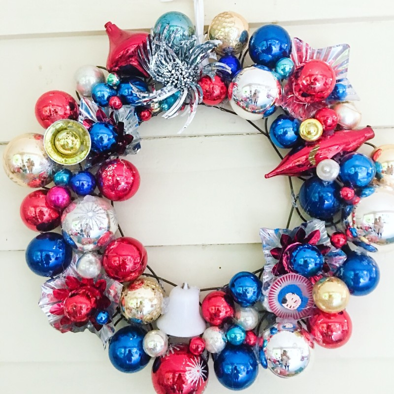 Vintage Wreath Ornaments 4th of July