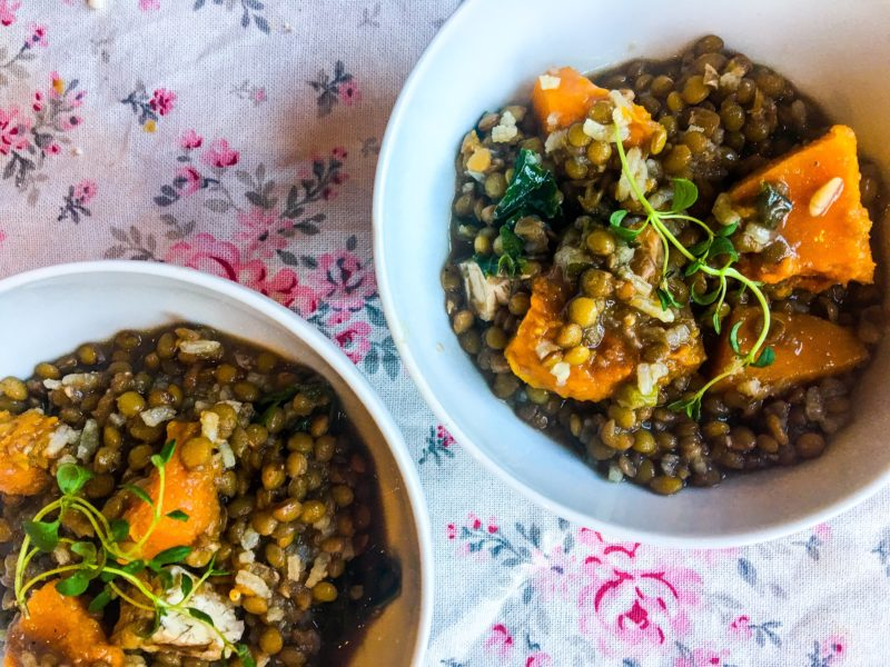 Soup with Squash and Lentil Cookbook Group