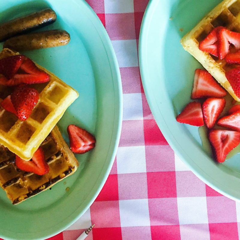 Belgian Waffles Berries Beach