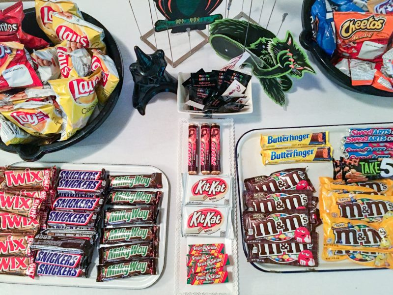 Halloween Celebration Trick or Treat Table