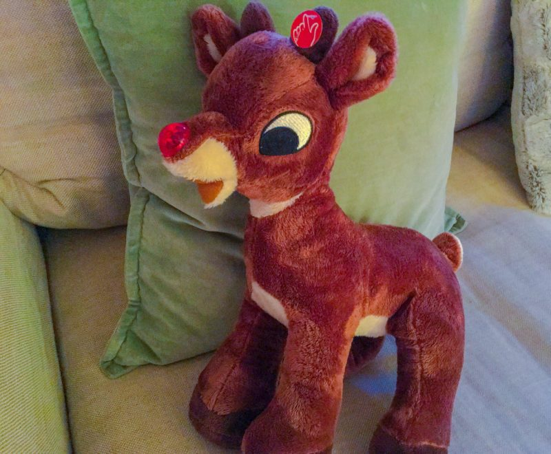 Rudolph Stuffed Animal Vintage Holiday 1950's Decorations Portland PDX Home