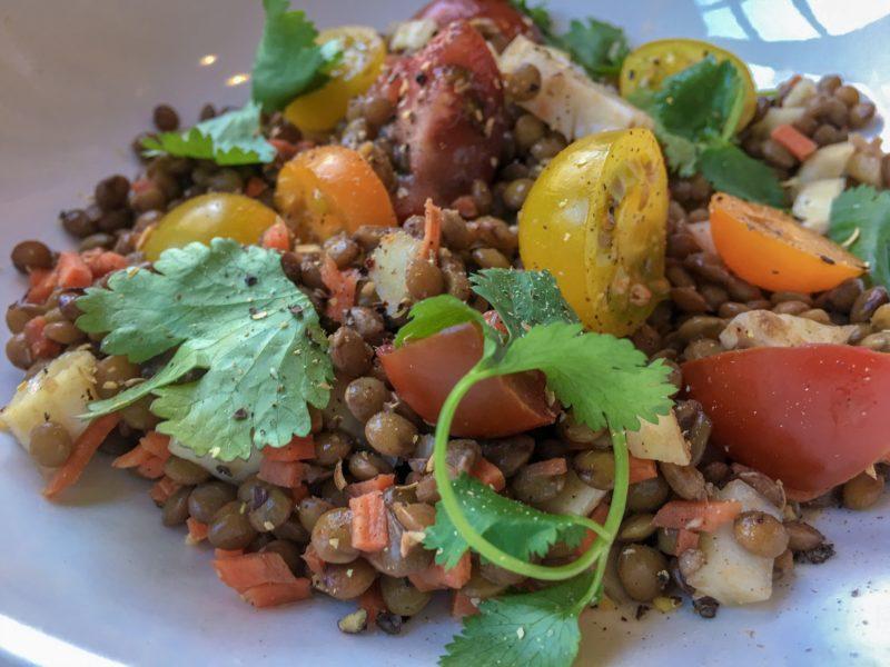 lentil salad tomatoes