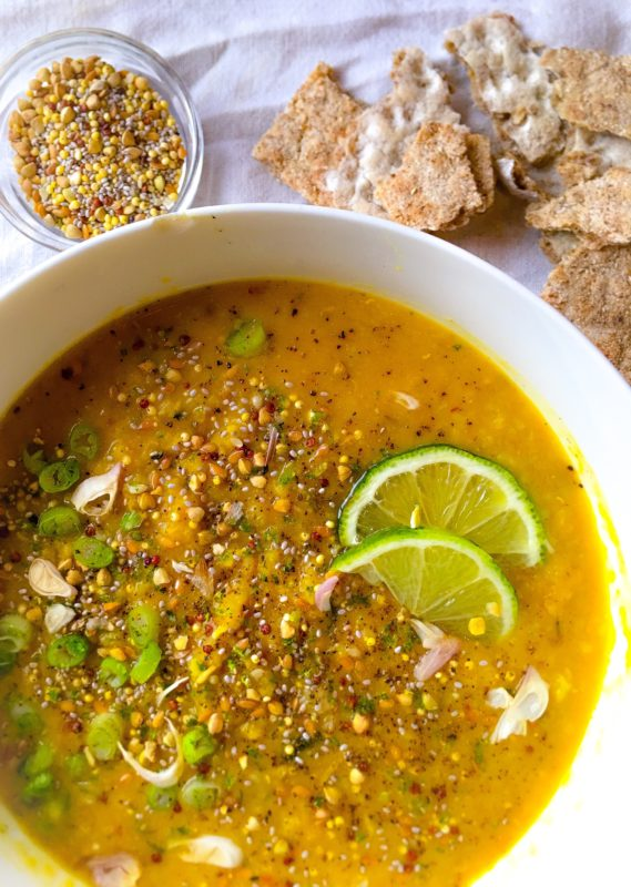 Clean eating Yellow Dal Ginger Soup